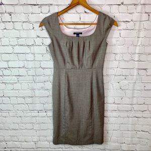 Banana Republic Gray Midi Dress 0